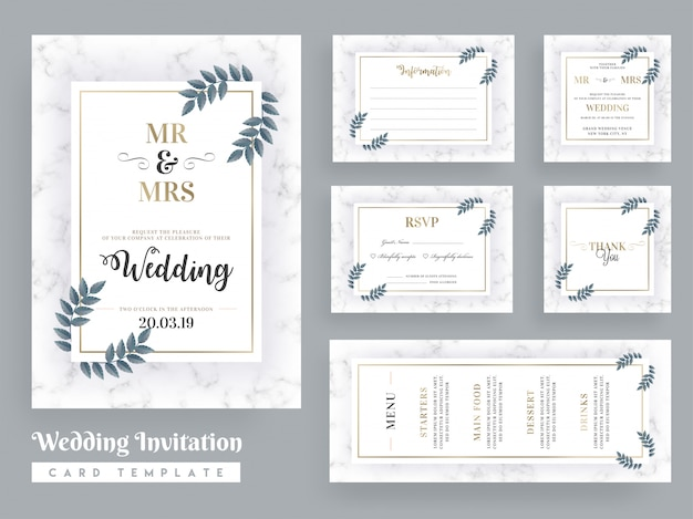 Wedding invitation card template design
