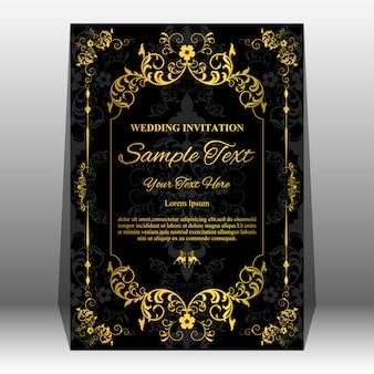 Wedding invitation card template.