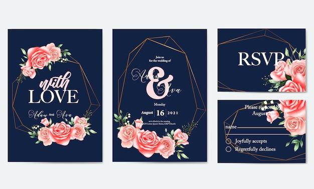 Шаблон приглашения на свадьбу