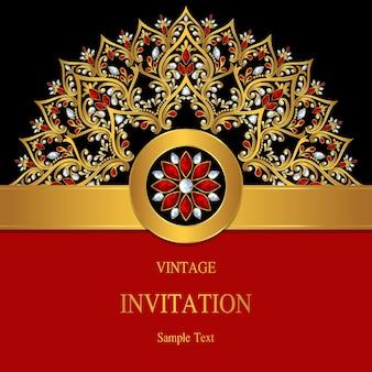 Wedding invitation card templates.