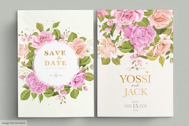 Свадебное приглашение с красивыми цветами