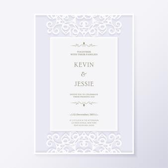 Свадебное приглашение с цветочным орнаментом