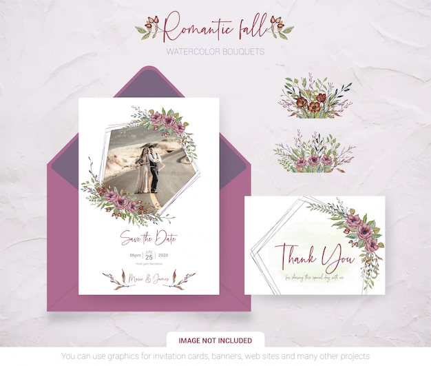 Wedding invitation card with your photo