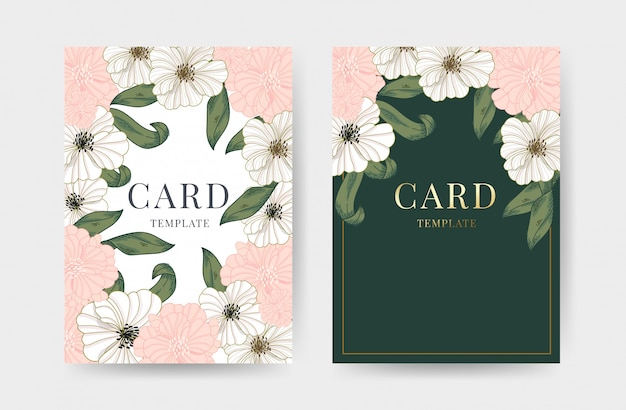 Wedding invitation cards design template