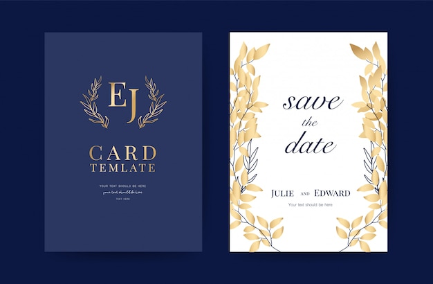 Wedding invitation cards design template