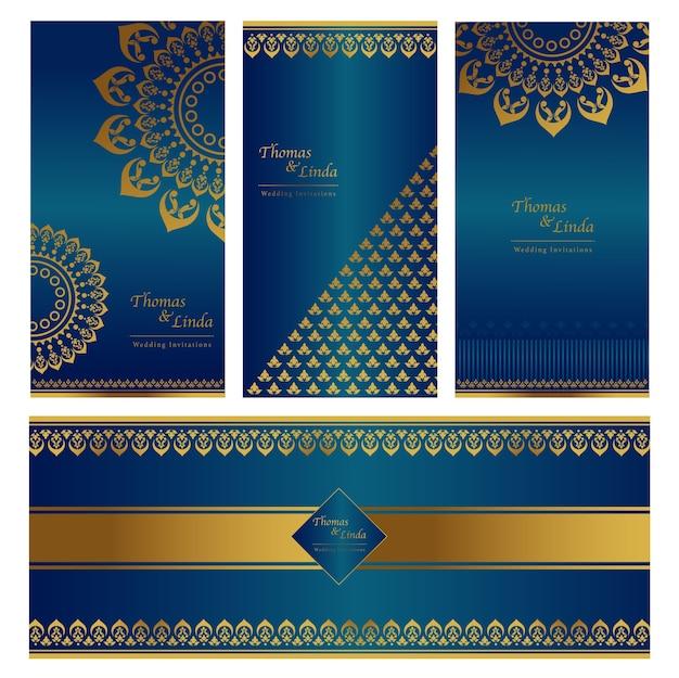 Wedding invitation cards set
