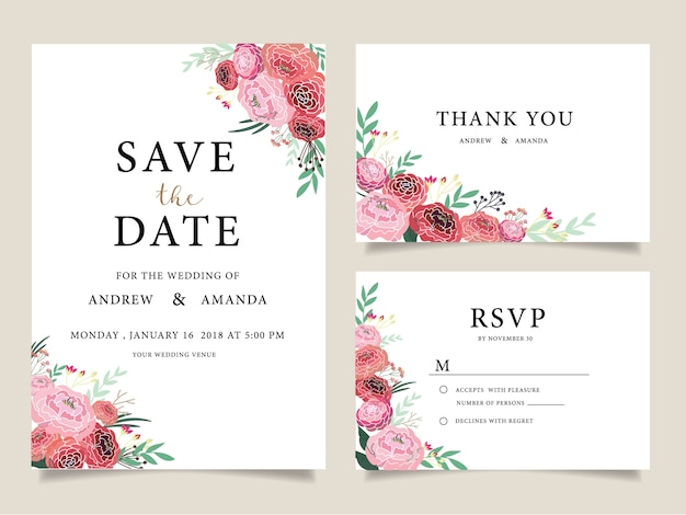 Thank You Card Wedding Vectors Photos and PSD files Free Download