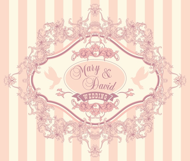 Свадебные пригласительные карточки с цветочными элементами. векторные иллюстрации.