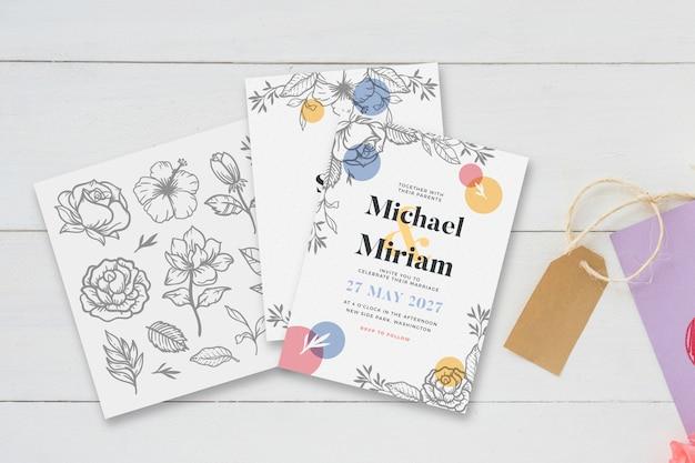 Wedding invitation concept for template