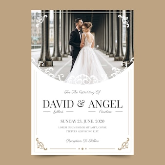 Wedding invitation concept with photo