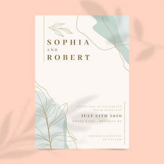 Wedding invitation concept