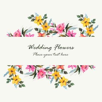 Wedding invitation decorative flowers card design