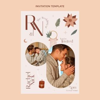 結婚式の招待状のデザインテンプレート