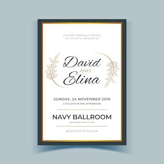 Wedding invitation elegant template