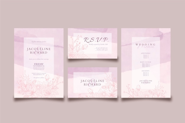 Wedding invitation elegant theme