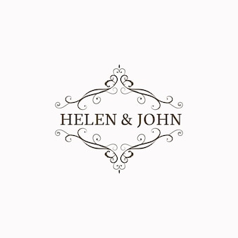 Wedding invitation emblem