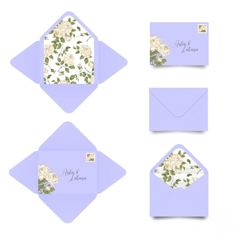 Wedding invitation envelope template