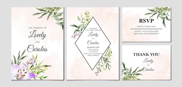 Свадебные приглашения цветочный дизайн