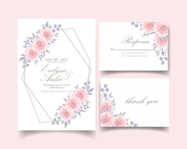 Wedding invitation floral roses
