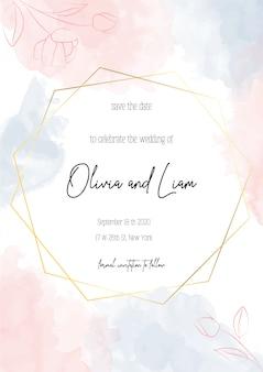 Приглашение на свадьбу, цветочные сохранить дату современная открытка