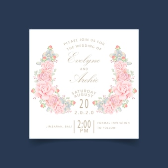 Wedding invitation floral with succulents