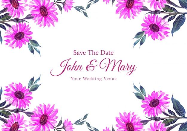 Carta cornice fiori invito a nozze