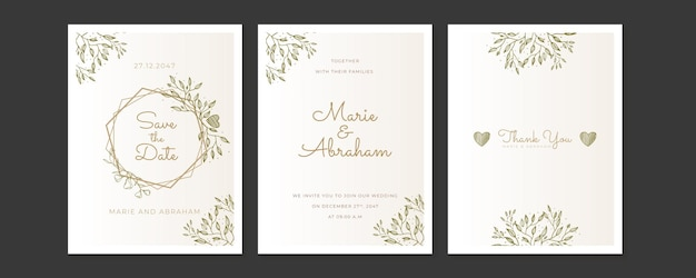 Wedding invitation frame set; flowers, leaves, watercolor, isolated on white. sketched wreath, floral and herbs garland with pastel or pink color.
