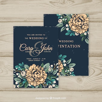 Vintage invitation vectors photos and psd files free download wedding invitation in vintage style stopboris Images