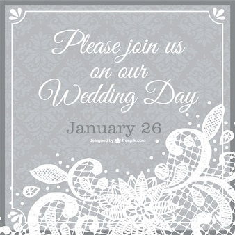 Wedding invitation lace template
