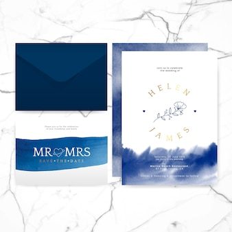 Wedding invitation layout design vector