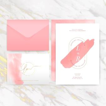 Свадебные приглашения макет дизайн вектор