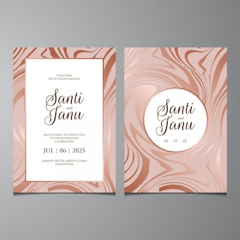 Wedding invitation, luxury marble liquid background