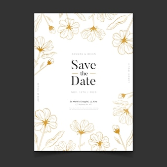 Свадебные приглашения люкс шаблон
