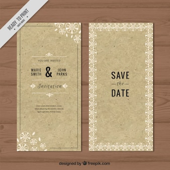 Wedding invitation made up of caupboard with sketches flowers