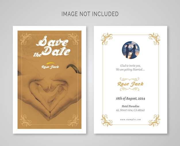 Wedding invitation post card