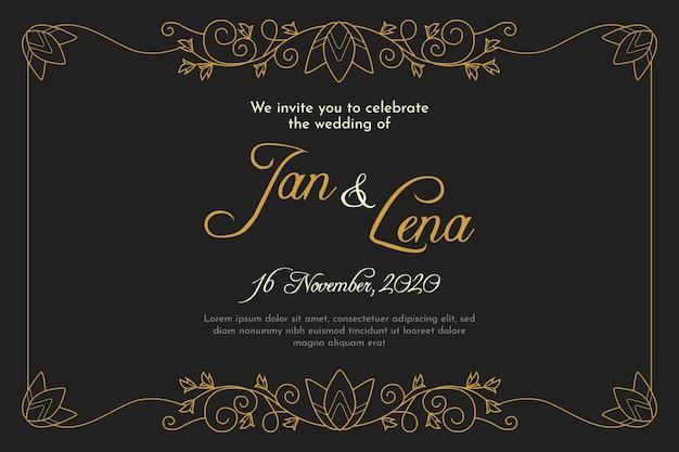 Wedding invitation in retro style