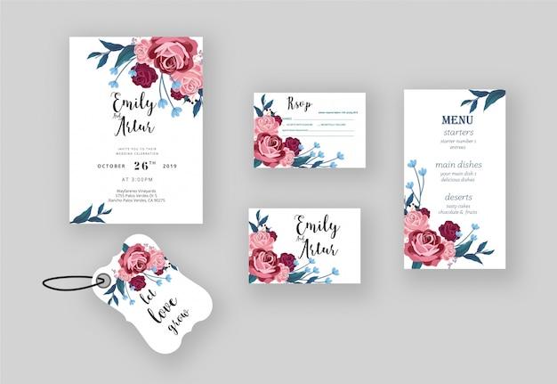 Wedding invitation rsvp card label