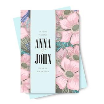 Wedding invitation, save the date. design template.