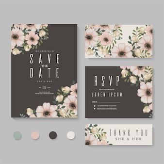 結婚式の招待状、日付を保存します。デザインテンプレート。