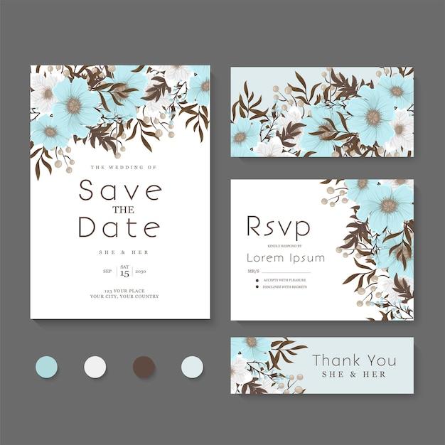 結婚式の招待状、日付を保存します。