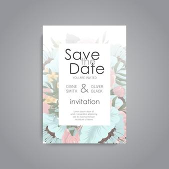 Wedding invitation set.