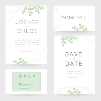Wedding invitation suite vector