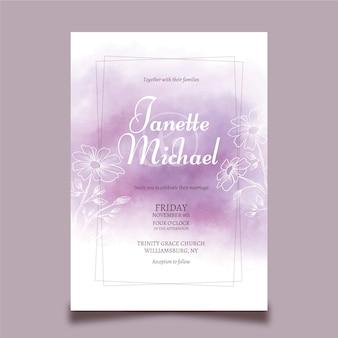 Wedding invitation template concept