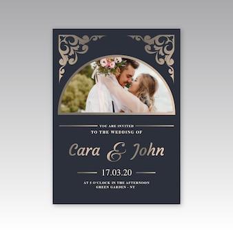 Wedding invitation template design