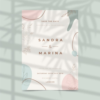 Wedding invitation template design
