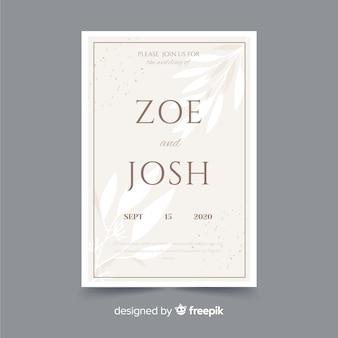 Wedding invitation template elegant design