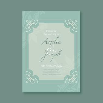 結婚式の招待状のテンプレートの豪華なスタイル