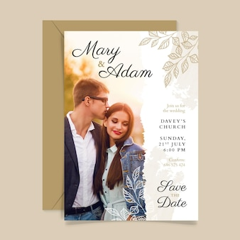 Wedding invitation template theme