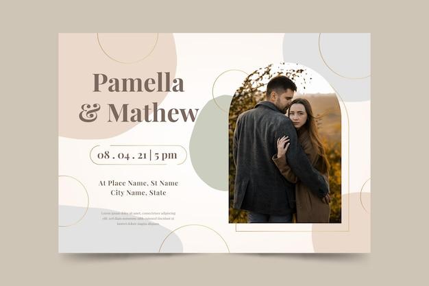 Tema del modello di invito a nozze