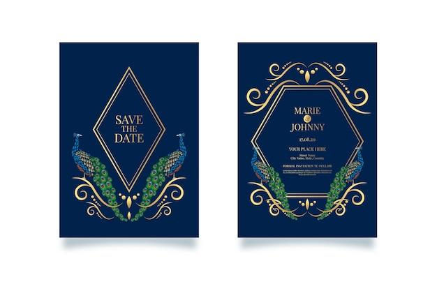 공작 결혼식 초대장 서식 파일